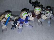 Star Wars Galactic Heroes Luke, Han & Rebel Hoth Empire Action Figures Hasbro