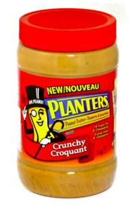 2  Planters Peanut Butter Crunchy  1kg