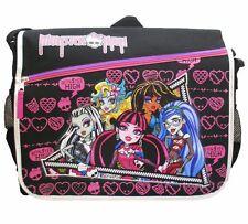 Monster High Black Tall Messenger Bag Purse Goth Punk Psychobilly Messenger Bag