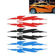 Automobile 2x Tapered Stripe Vinyl Decal Hood Door Window Car Sticker Van Truck Vehicle Car Styling one For Each Side