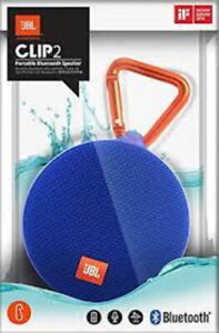 New JBL Clip 2 Waterproof Portable Rechargeable Bluetooth Speaker Authentic Blue
