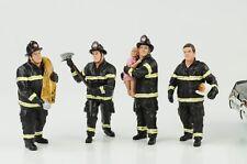 sapeurs pompiers homme Set de 4 FIGURINES 1:18 AMERICAN DIORAMA N° car