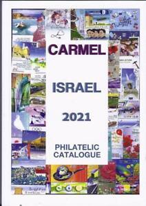 ISRAEL NEW CARMEL 2021 HEB ENG 1948 -2020 PHILATELIC CATALOGUE LEAF SHEET LABEL