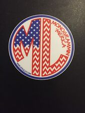 Marley Lilly Monogram Sticker Decal Red White Blue FREE SHIPPING!!