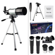 US 70mm Refractor Terrestrial&Astronomical Telescope with Tripod for Astron