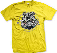 Attack Dog Guard Spiked Collar Chain Bite Tough Growl Teeth Bark Men's T-Shirt