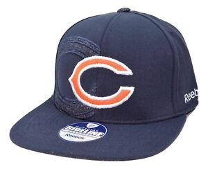 Chicago Bears Reebok NFL Football Dual Threat Stretch Fit Cap Hat L/XL