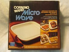 """Vintage Corning Ware 11 1/2"""" x 12"""" Microwave Browning Grill in Box- Never Used"""