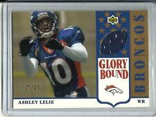 Ashley Lelie 2002 Upper Deck Glory Bound Gold Game Used Jersey #25/25