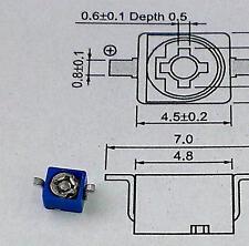 3 Stück Murata SMD HF-Trimmer 2 pF ... 6 pF / 100V blau Serie TZB4 (M1593)