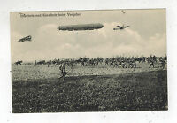 1915 Germany Feldpost Postcard Cover Zeppelin INfantry Biplanes Going to Battle