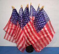 Silk American Flags ~ 49 Star 1959 ~ Bouquet Set of 12