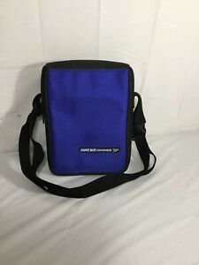 Nintendo Game Boy Advance SP Blue Travel Carrying Case Bag With Strap authentic