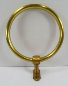 Pottery Barn Covington Towel Bathroom Ring Brass Gold Finish #8855