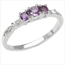 Anniversary Sterling Silver Fine Gemstone Rings