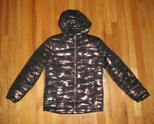 Under Armour Girls Black Gold Storm Puffer Jacket Coat Hooded M, L NWT