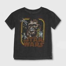 STAR WARS Chewbacca Kids Tee Short Sleeve T-Shirt Boys Girls Novelty Tee - Black