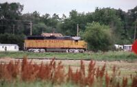 UNION PACIFIC Railroad Locomotive 94 COUNCIL BLUFFS IA Original 1988 Photo Slide