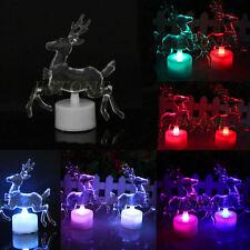 Christmas Xmas Decor Reindeer LED LAMP Colorful Acrylic Double Flash Night Light