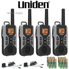 4 Pack Set Uniden GMR3050-2c Two Way Radio Walkie Talkie 30 Mile VOX w Batteries