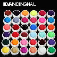 36 Pots Mix Pure Color UV Gel Acrylic Builder Polish Set Nail Art Tips Manicure