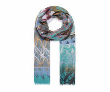 Womens Fashion Multicoloured Print Scarf Girls Flower Silk Type Stylish UK STOCK