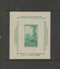U.S. 1937 S.P.A. Convention: Great Smoky Mountains S/S, 1 item, mNH Fine