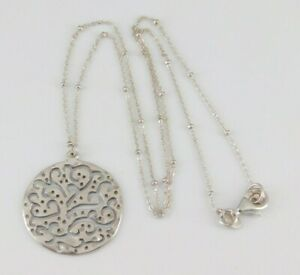 """Silpada 925 Sterling Silver A Cut Above Necklace 18.25"""" Long N2328"""