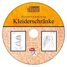 Kleiderschrank selber bauen, Kleiderschränke,106 deutsche Patente als PDF auf CD