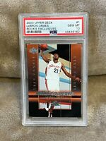 LEBRON JAMES⚡️2003 Upper Deck Rookie Exclusives PSA 10 GEM MINT RC🔥📈HOT
