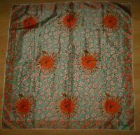 Vera Neumann Sunflower Daisy Scarf - Vintage Mid Century Designer Floral Scarf