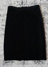 escada margaretha ley Black Cotton Pencil Skirt Womens Size 40