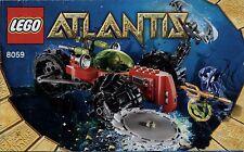 Lego Atlantis # 8059 Seabed Scavenger - Bauanleitung (keine Steine!)