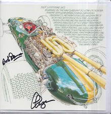 Clive Chapman and Bob Dance Hand Signed Lotus Post Card Very Rare F1 3.