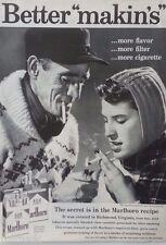 1959 Marlboro Cigarettes EagleTattoo Man Wool Sweater Woman Scarf Smoking Ad