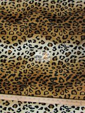 "VELBOA FAUX FAKE FUR LEOPARD ANIMAL SHORT PILE FABRIC - Copper - 58""/60"" WIDTH"
