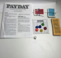 Payday Board Game Replacement Cards Money Pads Dice and Pieces 1994