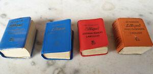 Lilliput Larousse 4 mini dictionnaires français anglais allemand espagnol