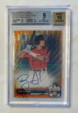 2017 Bowman Chrome RYAN HOWARD Orange Wave Auto SP /25 RCR BGS 9 MINT