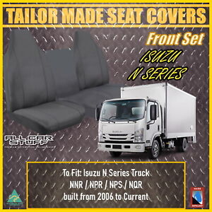 Waterproof Canvas Seat Covers for Isuzu NNR/NPR/NPS/NQR Truck: 2006 to Current
