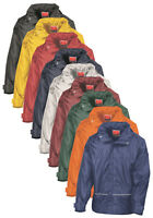 Result Plain RED BLUE GREEN WHITE YELLOW Waterproof Hooded Coach Jacket