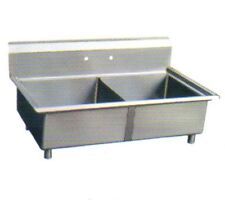 Sapphire Sms2424-2, 24x24-Inch 2-Compartment Stainless Steel Sink