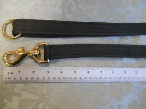4ft professional dog training lead solid brass clip STRONG hygenic washable web