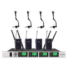 UHF Professional 4 x100 Channels Wireless Instrument Saxphone Microphone System