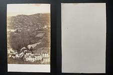 France, panorama, village à identifier Vintage albumen print CDV.  Tirage albu