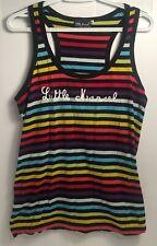Little Marcel Tank Top Rainbow Striped XL