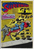 Superman Batman Nr.24 vom 22.11.1975 mit Werbebeilage - Comicheft Ehapa