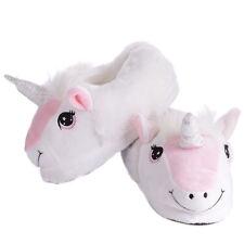 PINK & WHITE Childrens Unicorn Pantofole Invernali Indoor FANTASY Pantofola Antiscivolo