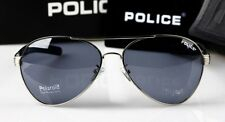 Hot New style Men's POLICE sunglasses Driving glasses Blue lens silvery frame