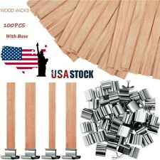 100X Wooden Candle Wicks Core Supplies With Sustainer Diy Soap Making for Party